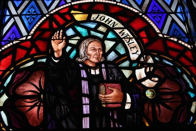 06 15 Stained Glass John Wesley