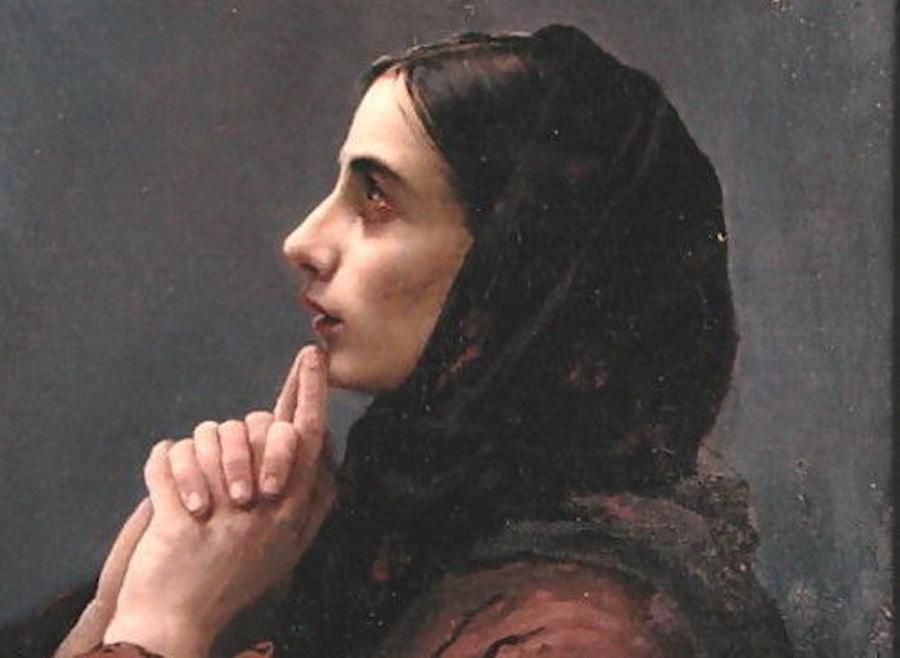 06 16 Young Woman At Prayer