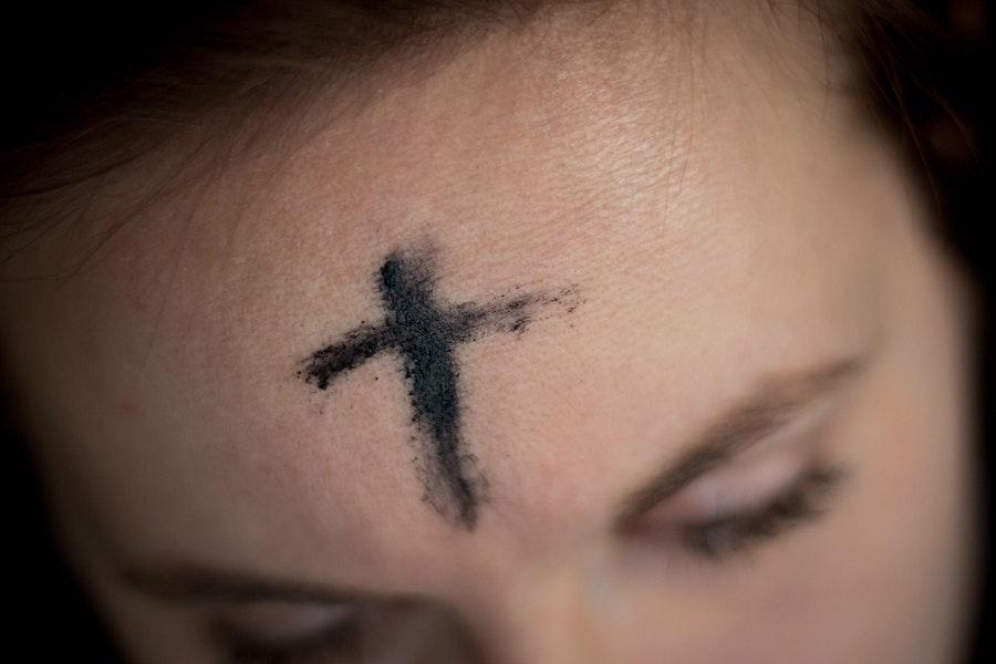 Lent Ash Wednesday Cross On Forehead