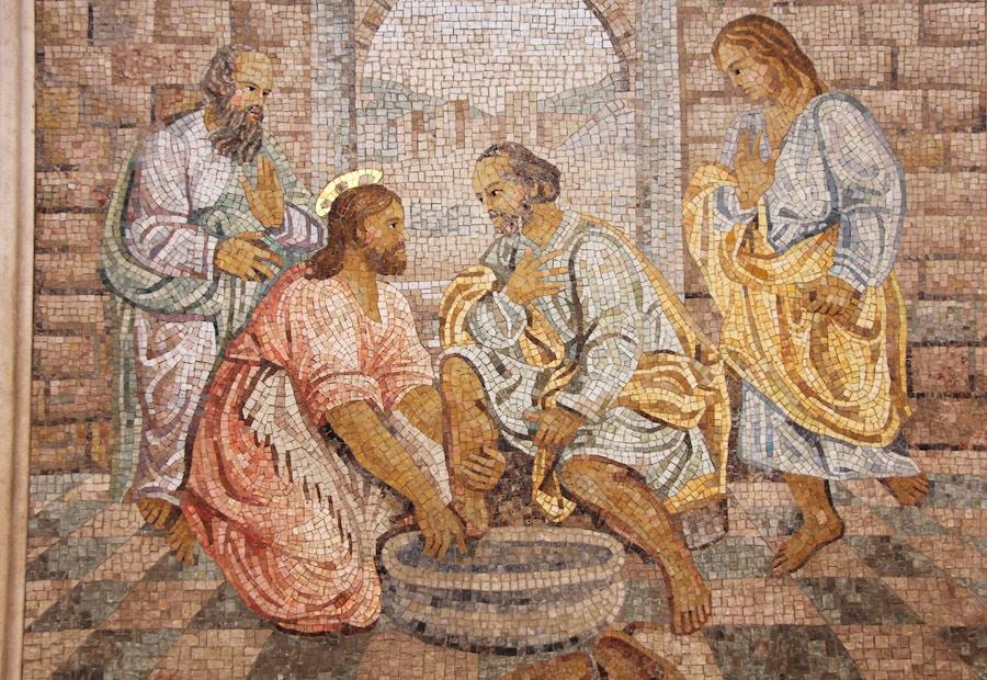 2018-02-22 Jesus Wash Feet Mosaic