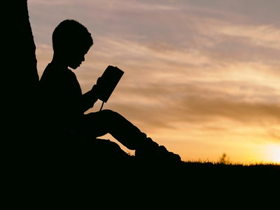 2018 03 07 Boy Under Tree Reading