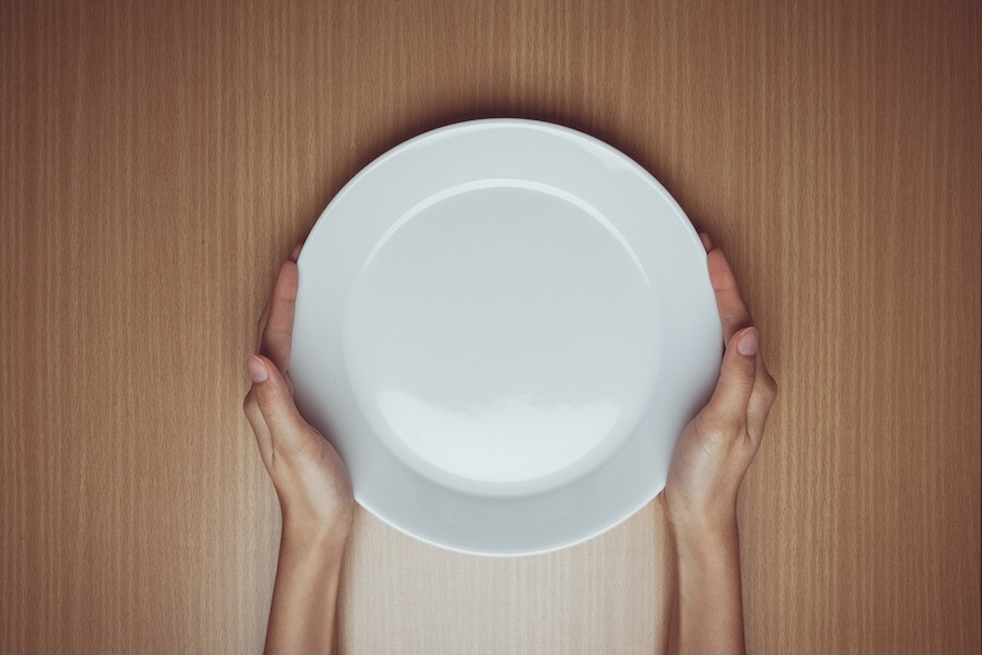Empty Plate With Hands - Fasting