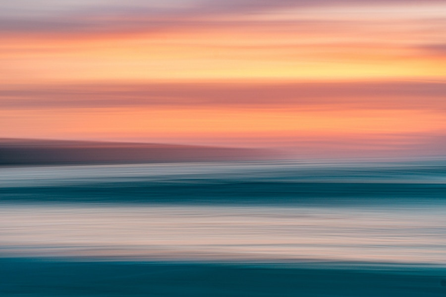 Blurred Sunset Heaven and Earth