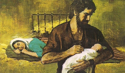 Holy Family With Joseph Holding Infant Jesus 1