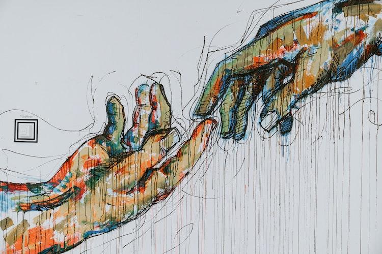Art sistine hands