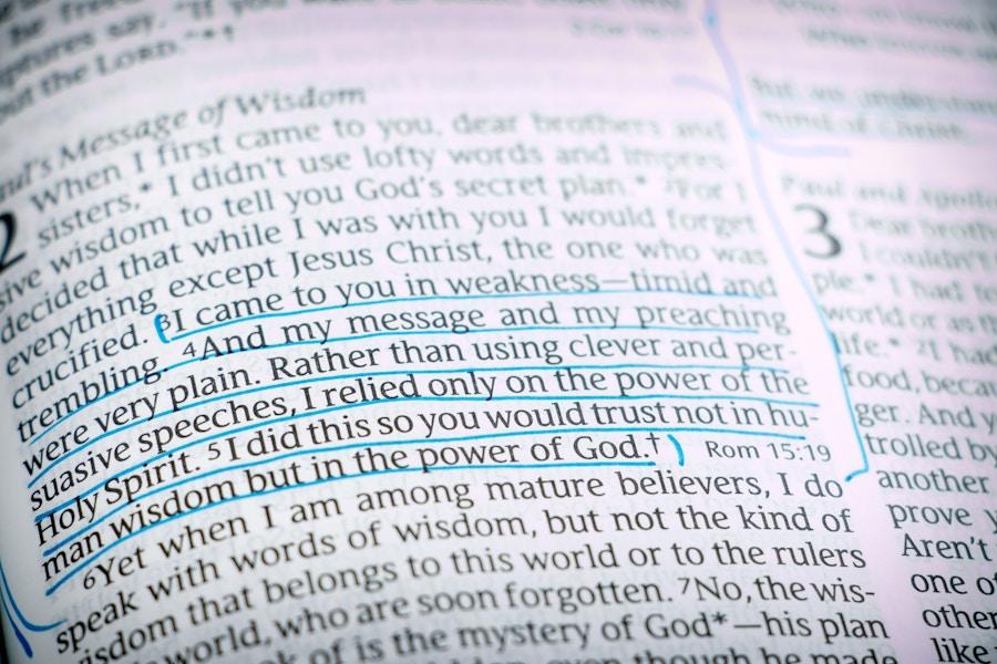 Bible Open 1Corinthians