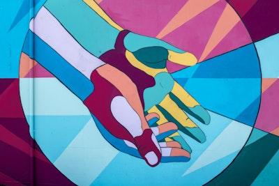 Blessing hands mural