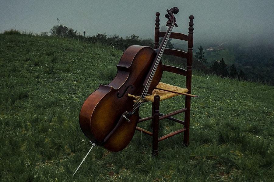 Cello in fog