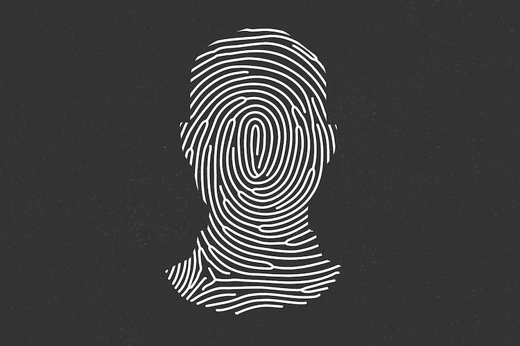 Identity fingerprint silhouette