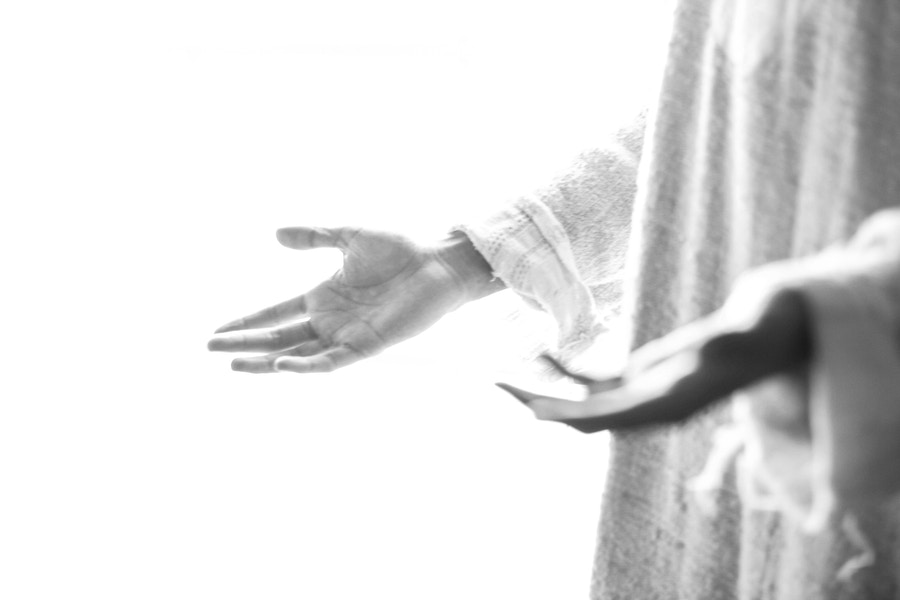 Jesus Hands Open