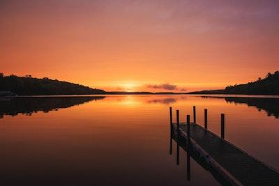 Lake sunrise michigan