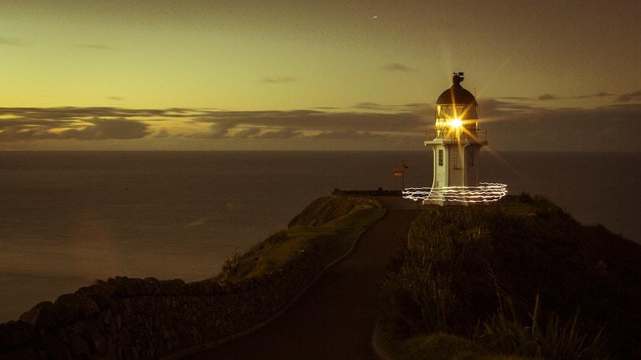 Lighthouse sun