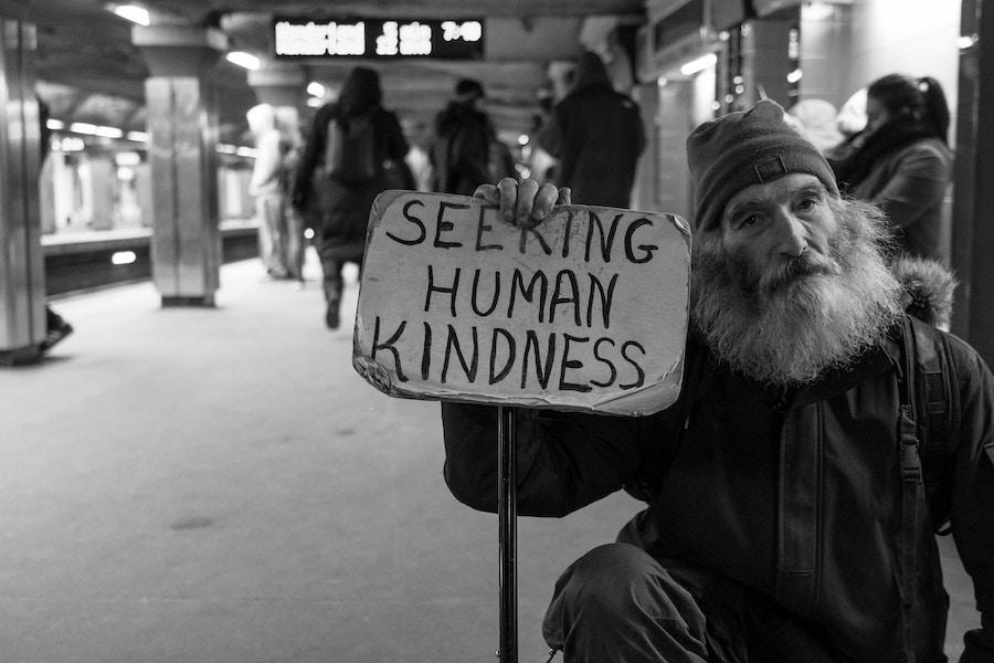 Man seeking kindness