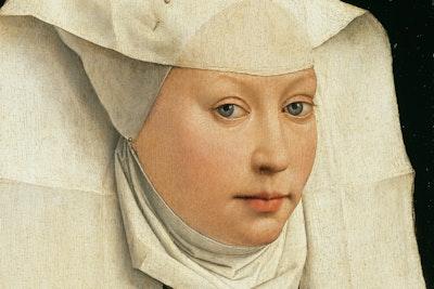 Woman In Winged Bonnet