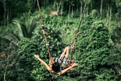 Woman swing jungle