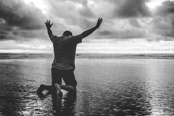 Worship Beach Kneeling