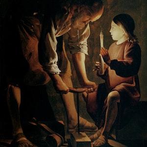 Georges de La Tour. _St. Joseph the Carpenter._ c. 1642